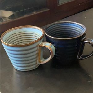 Starbucks 2008 series blue mugs set